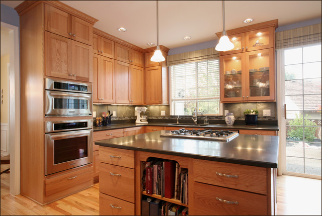 kitchenaid architect series ii dishwasher Kitchen Eclectic with ceiling lighting glass front