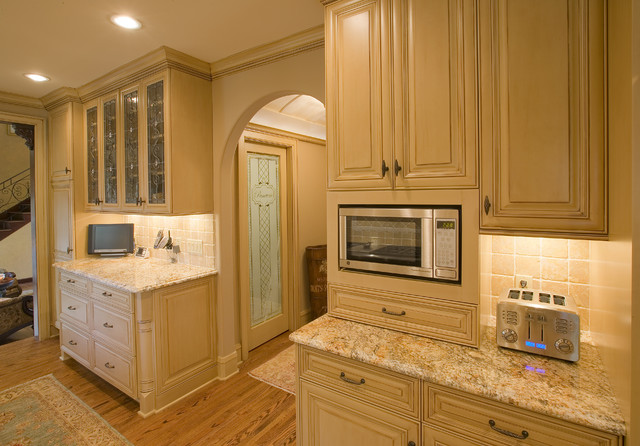 Kitchenaid Built in Microwave Kitchen Traditional with Arch Doorway Barrel Ceiling