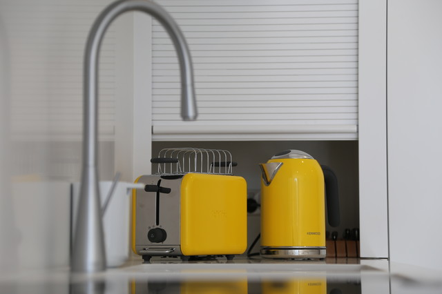 kitchenaid electric kettle Kitchen Modern with anbuilders extension hardwood kettle