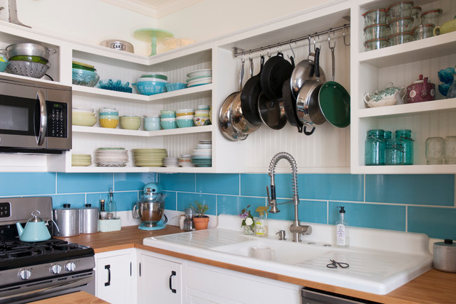 Kitchenaid Ksm150ps Kitchen Eclectic with Beadboard Blue Bungalow Eclectic