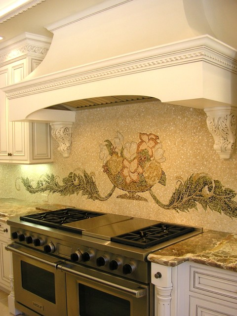 Kitchenaid Range Hood Kitchen Traditional with Carved Wood Distressed Furniture