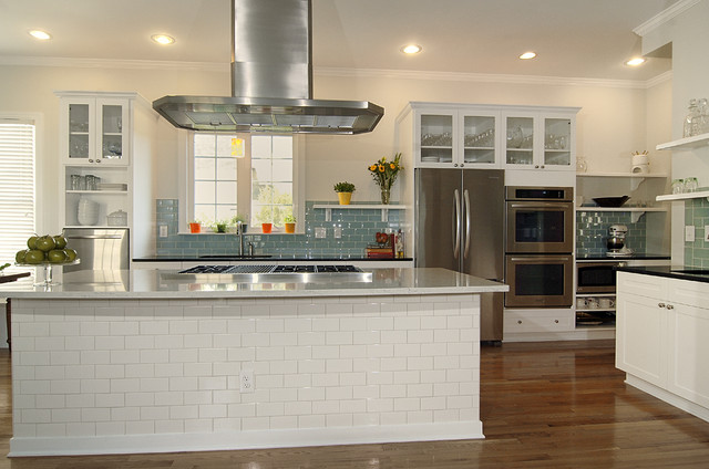 Kitchenaid Wall Oven Kitchen Transitional with Black Pearl Granite Ceiling