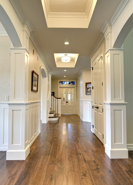 Kitchler Lighting Hall Traditional with Ceiling Light Coffered Ceiling
