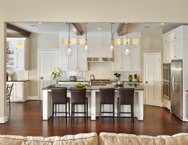 Kitchler Lighting Kitchen Traditional with Apron Front Range Top