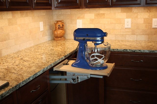Kraftmaid Outlet Kitchen Traditional with Belmont Blue Kitchen Aid