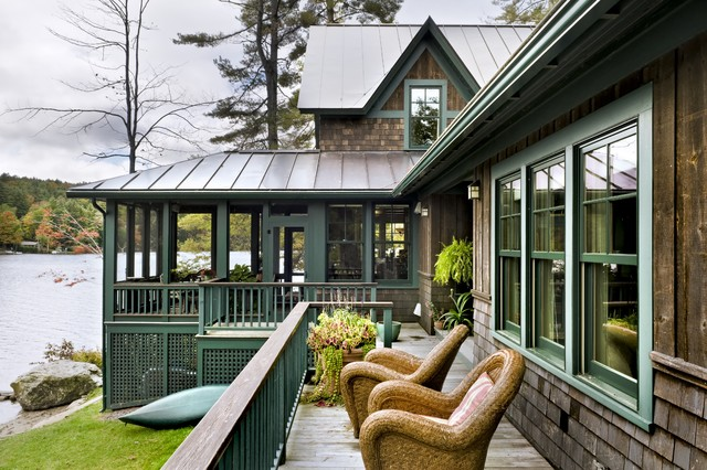 Lake Norman Nc Real Estate Exterior Rustic with Cabin Container Plants Deck