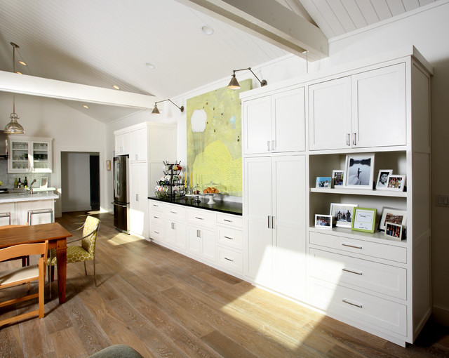 Laminate Flooring Costco Kitchen Traditional with 14shaker Barn Beadboard Ceiling