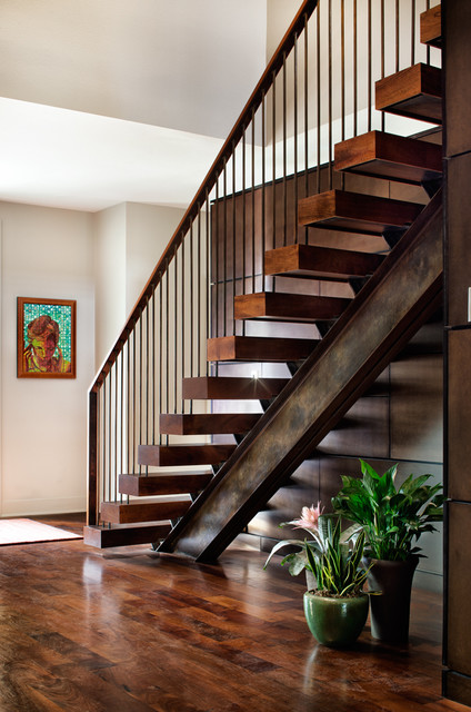 Laminate Stair Treads Staircase Contemporary with Custom Floating Stairs Floating