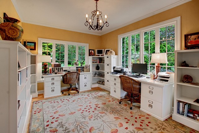 lateral filing cabinet Home Office Farmhouse with bainbridge island beige wall