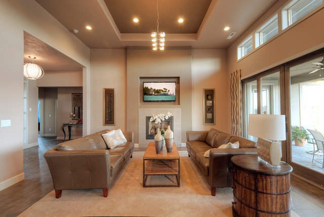 Leather Valet Tray Living Room Contemporary with Area Rug Baseboards Ceiling