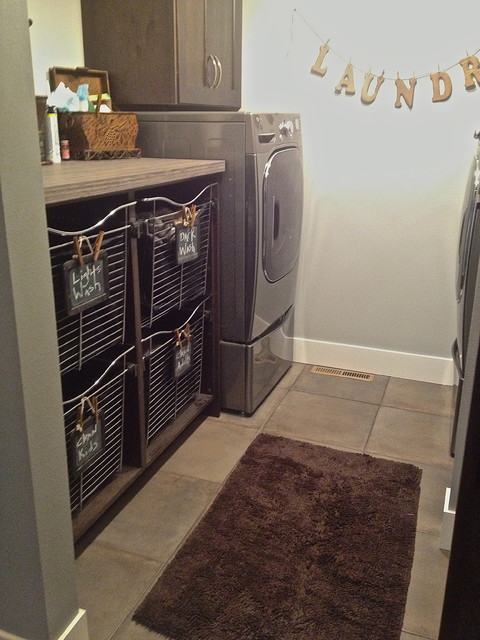 Letter Sorter Laundry Room Contemporary with Chalk Board Signs Laundry