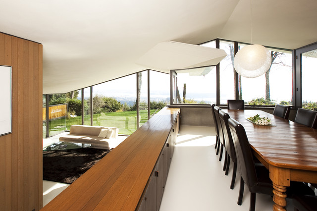 Levelor Dining Room Modern with Built in Sideboard Built