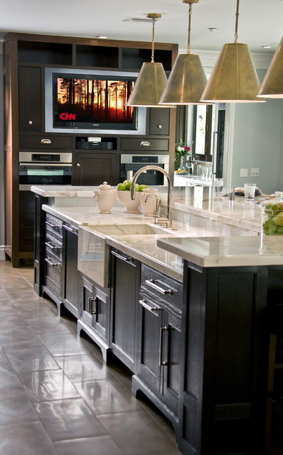 Levelor Kitchen Traditional with Built in Media Center