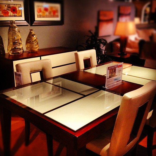 Levitz Furniture Dining Room With Beige Chairs Dining Chairs