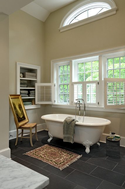 Lifesmart Spa Bathroom Traditional with Arched Transom Window Arched7
