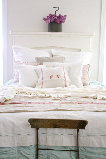 Linen Bedskirt Bedroom Shabby Chic with Bedskirt Cottage Dust Ruffle