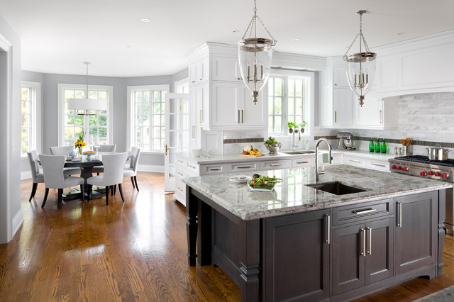 Livex Lighting Kitchen Traditional with Brown Cabinets Gray Dining