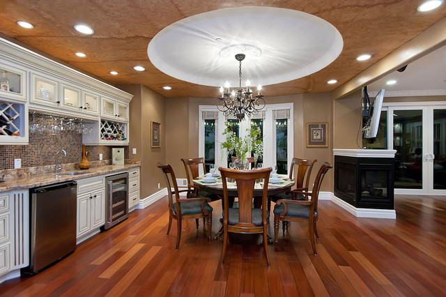 Locksmith San Jose Dining Room Traditional with Bay Window Beige Blinds