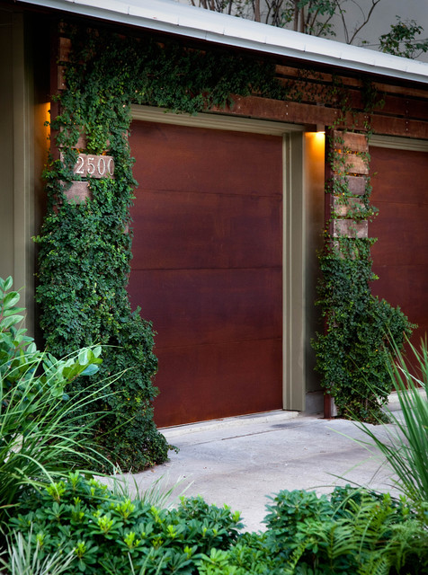 Locksmith San Jose Garage and Shed Industrial with Bushes Concrete Driveway Door
