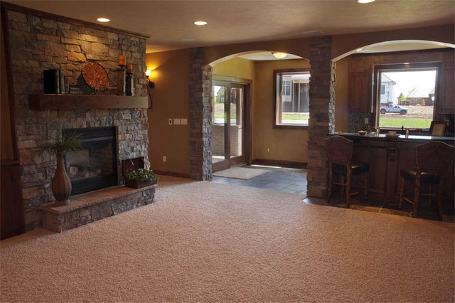 Locksmith Wichita Ks Basement Contemporary with Arched Basement Bar Double Sided