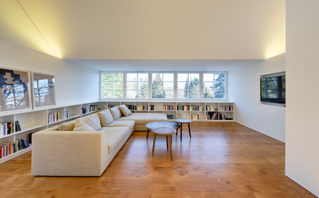 lowes bookshelves Living Room Contemporary with couchtischtrio Dachausbau Deckenbeleuchtung Gaube