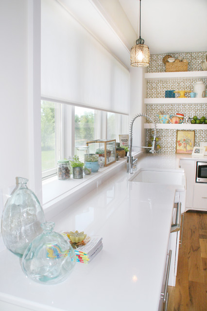 Lowes Window Blinds Kitchen Eclectic with Ann Sacks Apron Front
