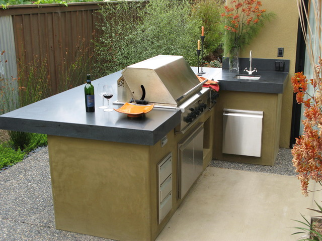 Lynx Bbq Patio Contemporary with Bbq Board and Batten