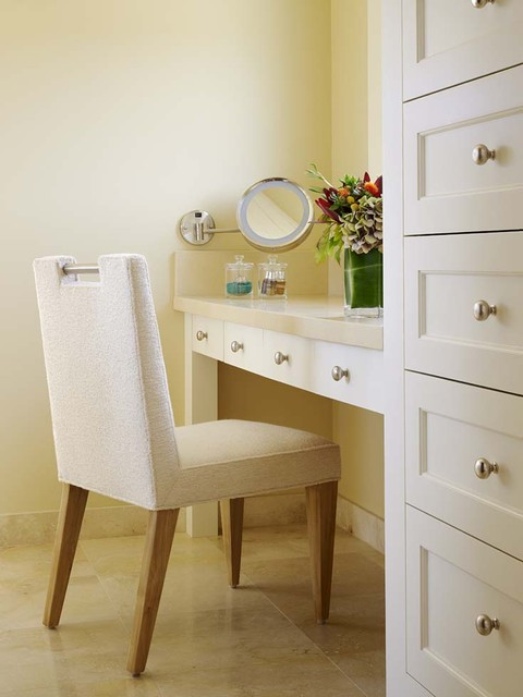 Magnifying Mirror Spaces Eclectic with Cabinets Farmhouse Vanity