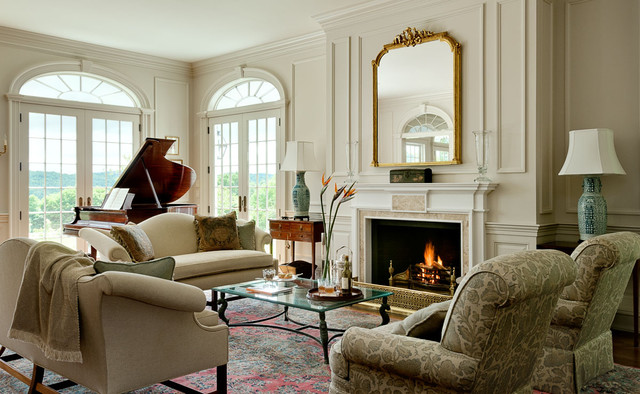Mainstay Furniture Living Room Traditional with Antique Mirror Country Home