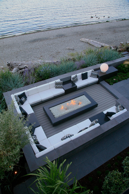 Mainstay Furniture Spaces Contemporary with Beach Contemporary Fire Pit