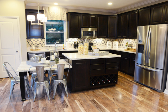 Mannington Laminate Flooring Kitchen Transitional with Breakfast Nook Casual Dining