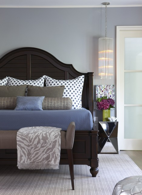 Matouk Bedding Bedroom Transitional with Area Rug Bed Pillows