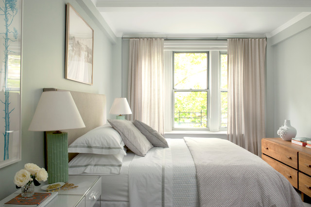 Matouk Sheets Bedroom Transitional with Bedding Drapery Dresser Gray