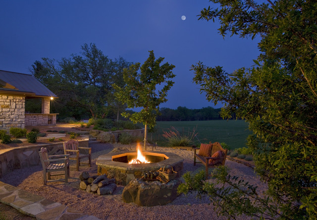 Metal Fire Pit Ring Landscape Traditional with Backyard Fire Pit Garden