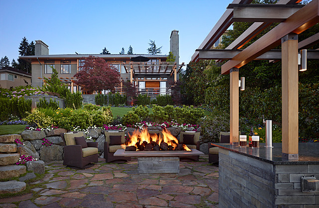 Midwest Pest Control Patio with Affordable Architect Brick Fireplace