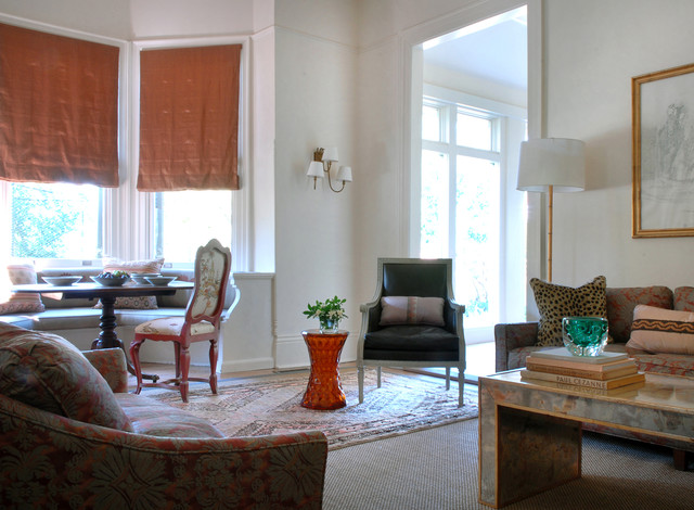 Milgard Doors Living Room Transitional with Brass Sconces Donghia Fortuny