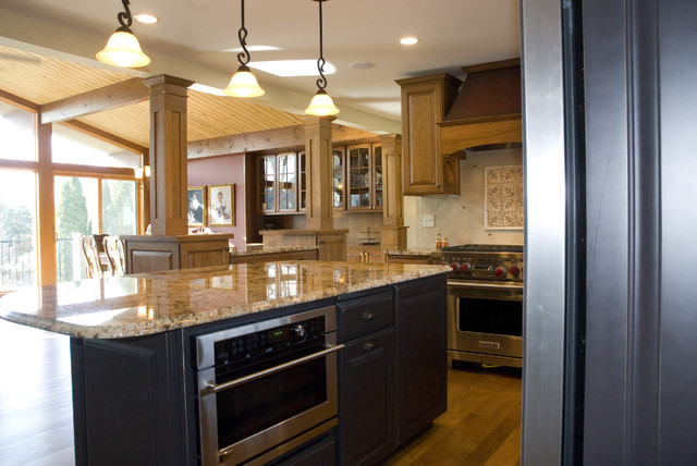 Mini Pendant Light Shades Kitchen Traditional with Granite Countertops Great Room