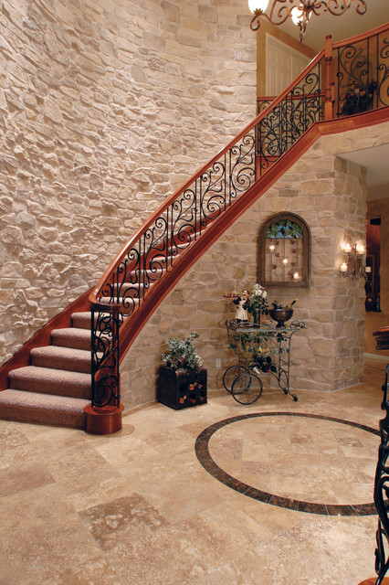 Mirrored Jewelry Armoire Staircase Mediterranean with Architectural Stone French Style