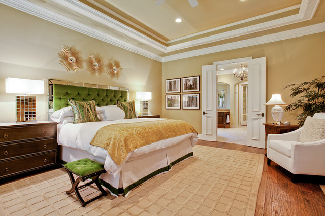 Mirrored Tray Bedroom Traditional with Beige Rug Beige Throw