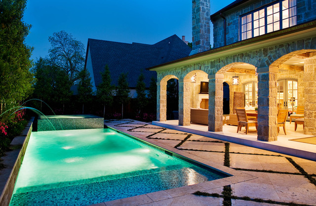Monarch Specialties Pool Traditional with Arch Balcony Fountain French
