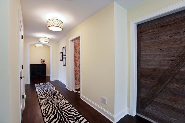 Murray Feiss Lighting Hall Traditional with Arch Doorway Baseboards Ceiling