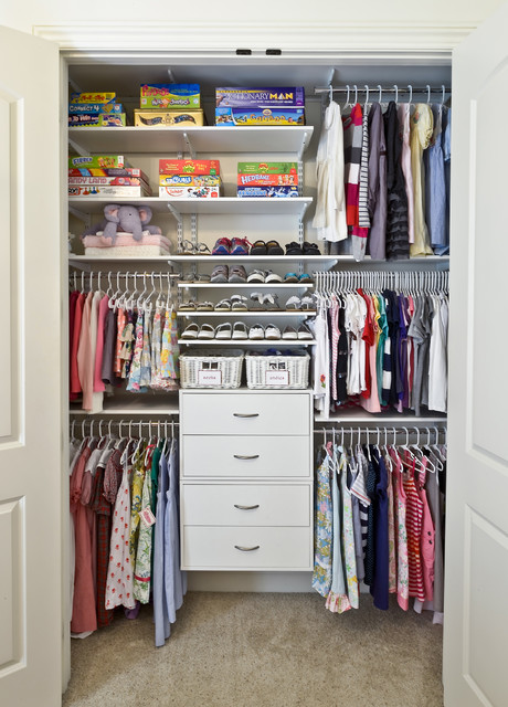 National Title Pawn Closet Contemporary with Adjustable Shelving Carpeting Childrens
