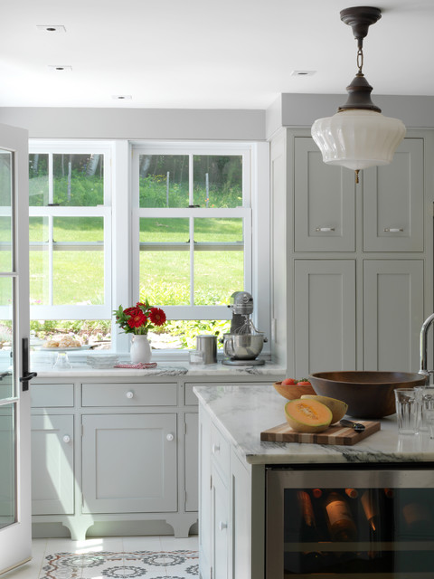 Nuvo Cabinet Paint Kitchen Farmhouse with Beverage Cooler Double Hung