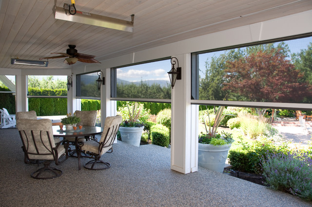 Odl Retractable Screen Door Porch with Building Aesthetics Clear View