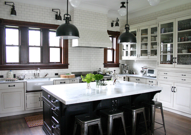 Old Fashioned Light Bulbs Kitchen Traditional with Black Farmhouse Sink Glass