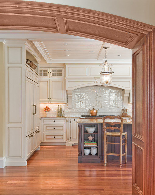 Omnia Hardware Kitchen Traditional with Archway Beadboard Beadboard Ceiling