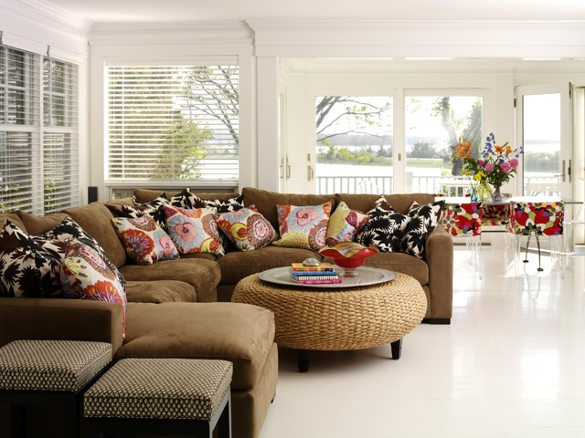 Ottomans Target Family Room Eclectic with Corner Sofa Crown Molding