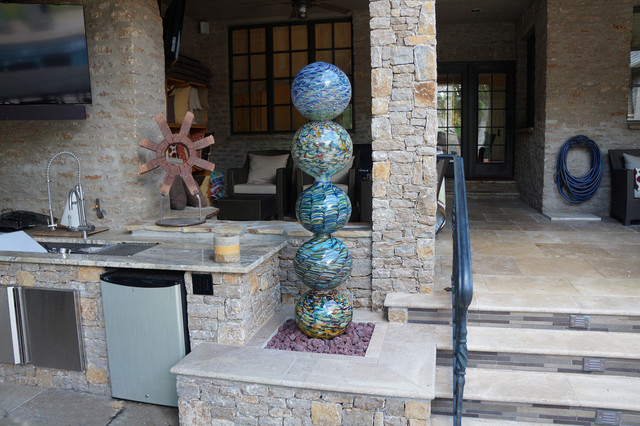Ottomans Target Patio with Art Glass Covered Patio