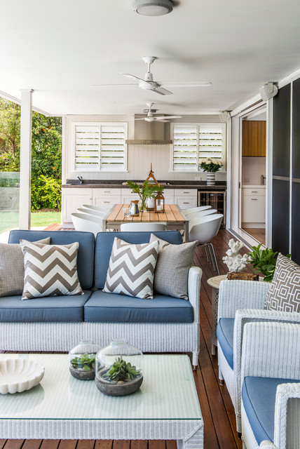 outdoor papasan chair Deck Traditional with beam Blue Outdoor Cushions
