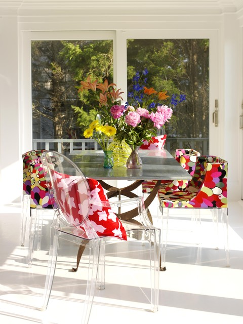 Outdoor Papasan Chair Dining Room Shabby Chic with Bold Color Bright Color